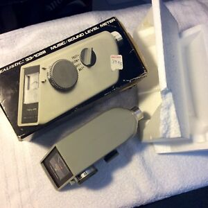 Vintage Realistic 33 1028 Music Sound Level Meter With Original Box