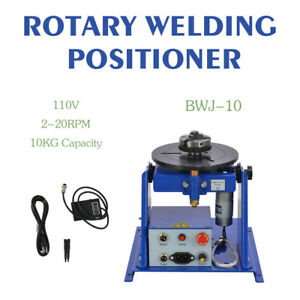 Rotary Welding Positioner Turntable Table Mini 2 5 3 Jaw Lathe Chuck 2 20 R min