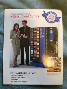 Brand New Antares Drink And Snack Combo Vending Machine With Dollar Changer