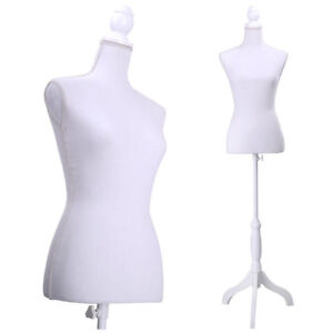 Mannequin Female Torso Clothing Display W Dress Form Maniquin White