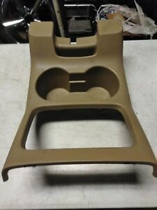 Ford Expedition Console Cup Holder 03 06 Tan Trim Bezel Center
