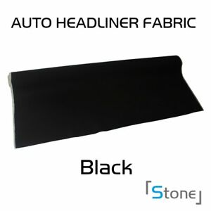 Auto Repaired Headliner Upholstery Material Replacement Fabric Black 120 x60