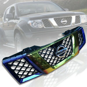 Front Titanium Gold Grille Grill For Nissan Frontier Navara D40 2005 06 07 08
