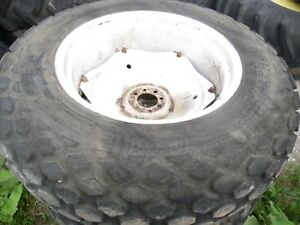 Ford 4000 Farm Tractor Rear Turf Tires Wheels 13 6x28 no Fluid In Them