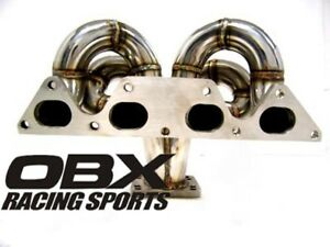 Obx T3 t4 Bottom Mount Turbo Header For 92 To 96 Honda Prelude Si H23a1