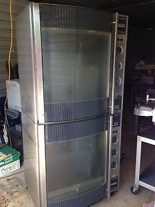 Hobart Double Stack Chicken Rotisserie Model Hr7 With Curve Glass On Both Sides
