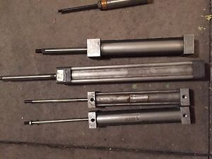 4 Pneumatic Air Cylinders Including Springville I125x6 8 81 Wabco L12
