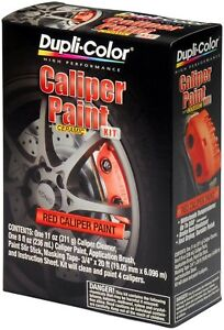Red Brake Caliper Paint Kit Ceramic Resin Protective Coating Automotive Vehicle