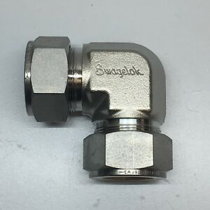 Swagelok Ss 1610 9 Stainless Steel Tube Fitting Union Elbow 1 In Tube Od