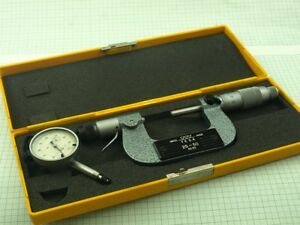 Tesa Swiss Outside Micrometer 25 50mm With Dial Indicator 0 001mm