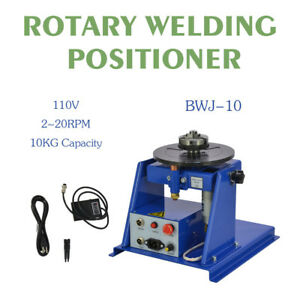110v New Rotary Welding Positioner Turntable Table Mini 2 5 3 Jaw Lathe Chuck
