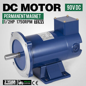 Dc Motor 1 2hp 56c Frame 90v 1750rpm Tenv Magnet Permanent Durable Applications