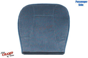 94 95 96 Ford Bronco Xlt Passenger Side Bottom Replacement Cloth Seat Cover Blue