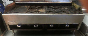 Rankin Delux Charbroiler Lava Rock 48 Gas Sold As Is