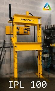 Working Hydraulic Press Enerpac 25 Ton H frame Press