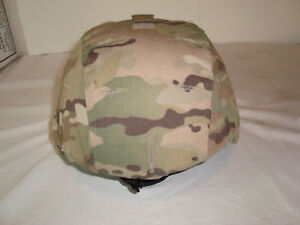 US MILITARY ISSUE ACH ADVANCED COMBAT HELMET MSA LARGE MULTICAM COVER