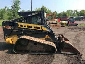 2008 New Holland C190 Ac heat Skid Steer Track Loader With Backup Camera