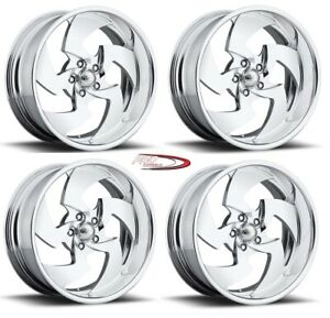 22 Pro Billet Wheels Rims Forged Stinger Directional Mags Blade Twisted