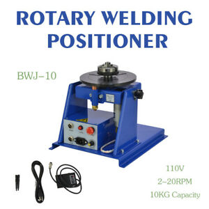 New Rotary Welding Positioner Turntable Table Mini 2 5 3 Jaw Lathe Chuck Top