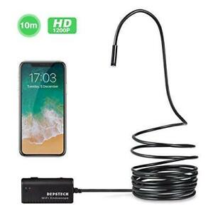 Depstech Wireless Endoscope Wifi Borescope Inspection Camera 2 0 Megapixels Hd