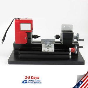 Mini Metal Lathe Woodworking Tool Processing Motorized Machine 20000rpm Usa Ship