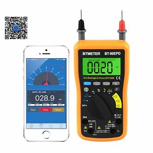 Multimeter Bt 90epd Auto Range Avometer Dmm 4000 Counts With Mobile Phone App Ac