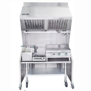 Ventless 4ft Package 15lb Fryer 24 Griddle 1800w Induction Range Table