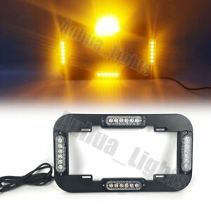 14 24w Led Strobe License Plate Lights Warn Flash Traffic Advisor Amber 12 24v
