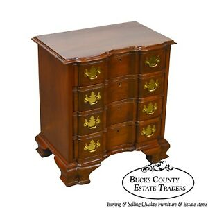 Councill Craftsmen Solid Mahogany Chippendale Small Block Front Accent Chest