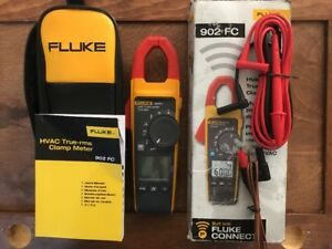 Fluke 902fc True Rms Hvac Clamp Meter In The Box With Leads 902 Fc