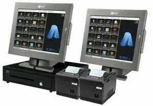 Aldelo Pos Pro Restaurant Complete Pos System 2 Stations New