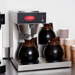 Avantco Commercial Coffee Maker Machine 3 Pot Warmer Pourover 12 Cup Brewer New