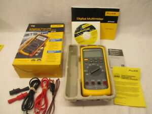 Fluke 87v True rms Multimeter Voltage Meter Electric Resistant Leads Signal Tool