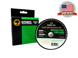 Kiswel Usa K ngs E71t gs 0 030 In Dia 2lb Gasless flux Core Wire Welding Wire
