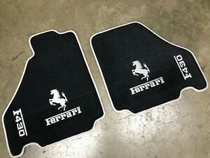 Ferrari F430 Custom Car Floor Mats Silver Logos And Edging Top Quality