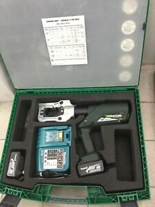 Greenlee E12ccxl11 Battery Operated Crimping Tool With 12v Charger