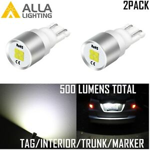Alla Lighting 194 Led License Plate Side Marker Light Bulb Glove Box Lamp White