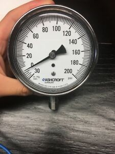 Ashcroft Gauge 0 200 Psi 3 1 2