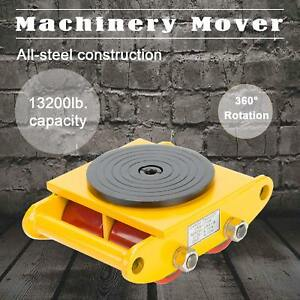 Industrial Machinery Mover With 360 rotation Cap 13200lbs 6t 4 Rollers