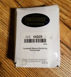 Traceable Digital Thermometer Memory Monitoring 6kdz8