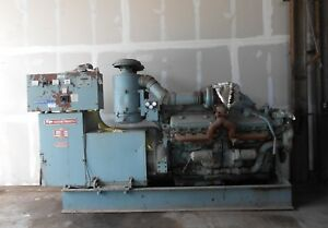 Diesel Ep Synchronous Generator Running Takeout Gm 16v71 500 Kw Can Ship