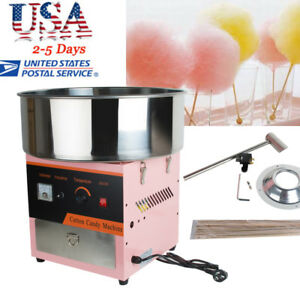 Usa Electric Cotton Candy Machine Floss Maker Commercial Carnival Party Children