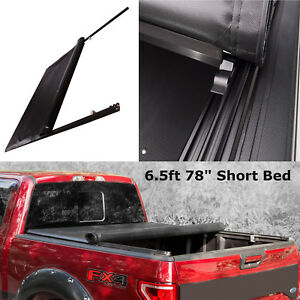 6 5 Ft 78 Short Bed Roll Up Lock Soft Tonneau Cover For 2007 2018 Toyota Tundra