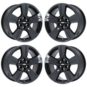 18 Chevrolet Colorado Truck Black Chrome Wheels Rims Factory Oem Set 4 5673