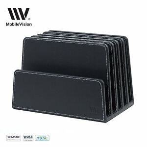 Mobilevision Executive Black Desktop File Folder Organizer And Paper Tray 5