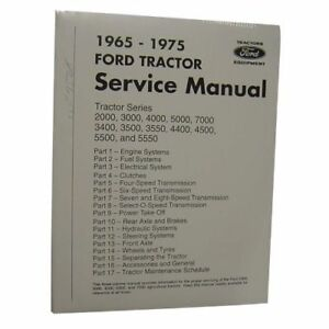 New Shop Manual For Ford New Holland Tractor 3400 3500 4400 4500 5500 5550 7000