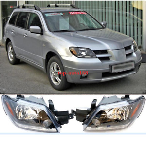 For Mitsubishi Outlander 2003 2005 Set Left right Front Head Lamps Headlights