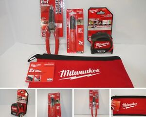 Milwaukee 4 Tool Lot 25 Tape Measure 48 22 7125 Wire Stripper 48 22 3079