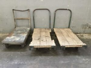 3 Industrial Push Carts