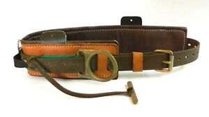 Buckingham Lineman s Belt No 2951 D24 Tree Or Pole Climbing Safety Clean Used